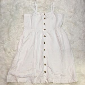 Plus size LOFT white linen dress 16W